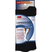 Md Socks, Compression, Over the Calf, Medium, Black