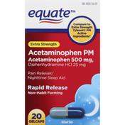 Equate Acetaminophen PM, Extra Strength, 500 mg, Gelcaps