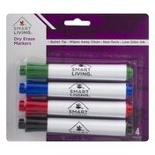 Smart Living Dry Erase Markers - 4 CT