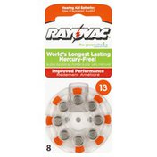 Rayovac Hearing Aid Batteries, Size 13