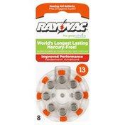 Rayovac Hearing Aid Batteries, Size 13