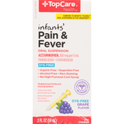 TopCare Infants' Pain Reliever & Fever Reducer Acetaminophen 160 Mg Per 5 Ml Oral Suspension, Grape