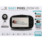 Summer Infant Video Monitor, Zoom HD, Baby Pixel, 5 in