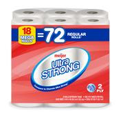Meijer Ultra Strong Bath Tissue, 18 Mega Rolls