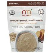 NurturMe Baby Cereal, Organic,  Quinoa + Sweet Potato + Raisin, 6+ Mths