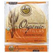 La Tortilla Factory Tortillas, Organic, Traditional Flour, Burrito Size