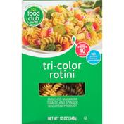 Food Club Rotini, Tri-Color