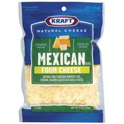 Kraft Mexican Style Four Cheese Shredded Cheese