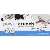 Power Crunch Energy Bar, Protein, Cookies & Creme, Original