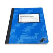 """Yoobi 9.75""""x7.5"""" Blue Camouflage College Ruled Composition Book 100 Sheets"""
