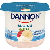 Dannon Blended Strawberry Banana Lowfat Yogurt