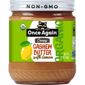 Once Again Cashew Butter, Organic, with Lemon, Creamy