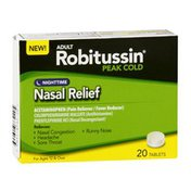 Robitussin Peak Cold Adult Nasal Relief Nighttime Tablets