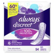Always Discreet Extra Heavy Incontinence Pads