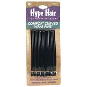 Hype Hair Comfort Curved Wrap Pins, Brunette