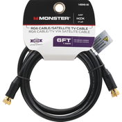Monster Cable, RG6 Cable/Satellite TV, 6 Feet