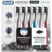 Oral-B Charcoal Toothbrush, Medium