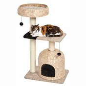 Midwest Homes For Pets Feline Nuvo Nest Wicker Cat Tree Furniture