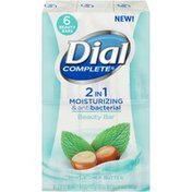 Dial Dial Complete 2 in 1 Moisturizing & Antibacterial Mint & Shea Butter Beauty Bar