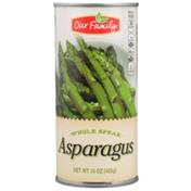 Our Family Whole Spear Asparagus