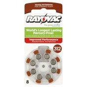 Rayovac Batteries, Hearing Aid, Size 312