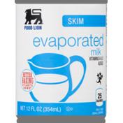 Food Lion Milk, Evaporated, Skim, Can