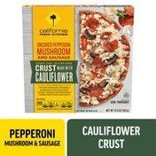 California Pizza Kitchen CPK Uncured Pepperoni Mushroom & Sausage Frozen Pizza with Cauliflower Pizza Crust