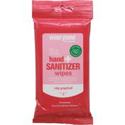 Everyone Hand + Sanitizer Wipes, Ruby Grapefruit, Towelettes