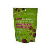 B'Cuz Snack Life Happens Plant-Based Gluten-Free & GMO-Free Cherry Pistachio Granola Bites Snacks