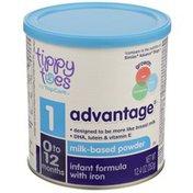 Tippy Toes Advantage, Milk-based Powder Infant Formula With Iron
