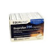 Equaline Ibuprofen PM Caplets, 200mg