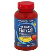 Nature's Reward Fish Oil, Odorless, 1000 mg, Natural Lemon Flavor, Enteric Coated Softgels