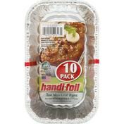 Handi-Foil Loaf Pans, Mini, 10 Pack