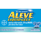 Aleve Pain Reliever/Fever Reducer, 220 mg, Capsules