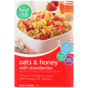 Food Club Oats & Honey With Strawberries Toasted Multigrain Cereal With Honey Oat Clusters