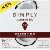 Summer's Eve Cleansing Cloths, Coconut Water