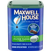 Maxwell House The Original Roast Decaf Ground Coffee Filter Packets