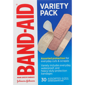 Band-Aid Bandages, Assorted Sizes, Variety Pack