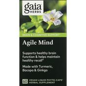 Gaia Herbs Agile Mind, Vegan Liquid Phyto-Caps