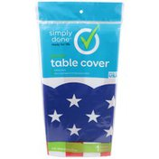 Simply Done Plastic Table Cover, Stars & Stripes