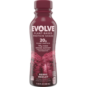 Evolve Protein Shake, Plant-Based, Berry Medley