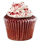 Red Velvet Cupcake With White Icing