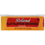 Roland Flat Fillets of Anchovies, in Olive Oil
