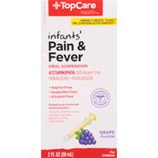 TopCare Pain & Fever, 160 mg, Oral Suspension, Grape Flavor, Infants', for Children
