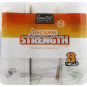Essential Everyday Paper Towels, Awesome Strength, Two-Ply