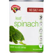 Hannaford No Salt Added Whole Leaf Spinach