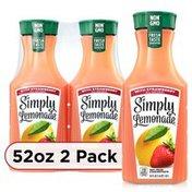 Simply Lemonade W/ Strawberry Bottles
