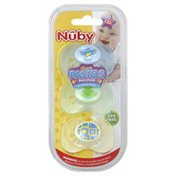 Nûby Pacifiers, Classic Oval, Pastels, 12M+