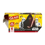 Glad Star Wars Mini Round Containers - 6 CT