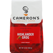 Camerons Coffee, Ground, Light Roast, Highland Grog